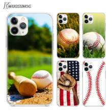 Funda transparente TPU amor béisbol deporte para iPhone 11 11Pro XS MAX XR X 8 7 6S 6 Plus 5S(China)
