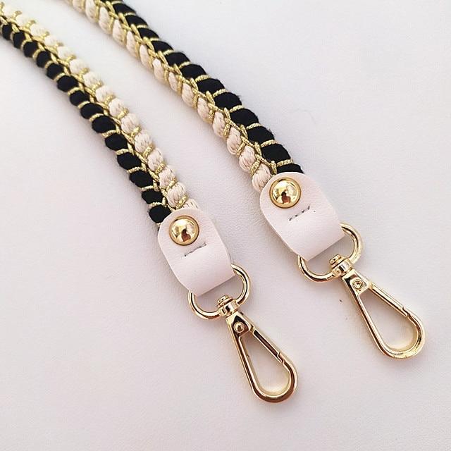 80/100/120cm tecer alça de ombro saco alça de moda tricô lã ampla substituição cinto bolsa de ombro cinta saco acessórios