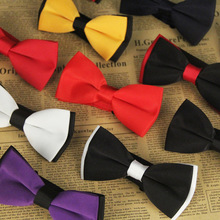 Fashion Male Bowties Groom Adjustable Satin Plain Solid Ties For Wedding Party Tuxedo Necktie Boy Business Butterfly Bowtie