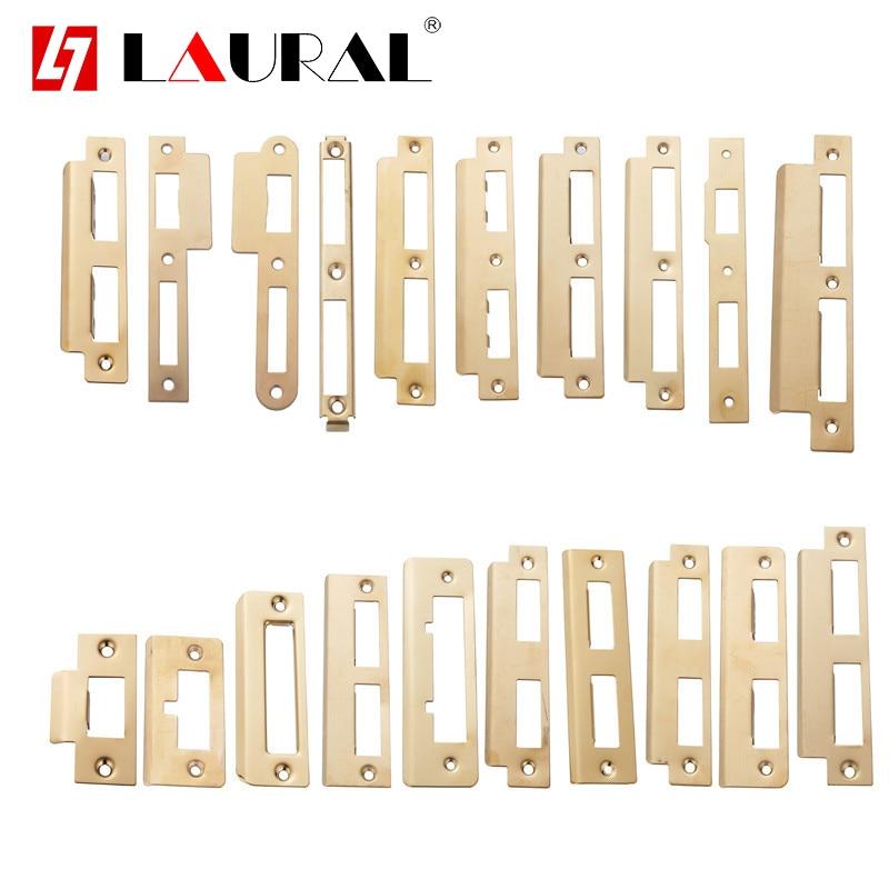 Gold Stainless Steel Room Door Locks  Lock Body Guide Piece Wooden Door Special Lock Piece Lock Buckle Plate Edge Str