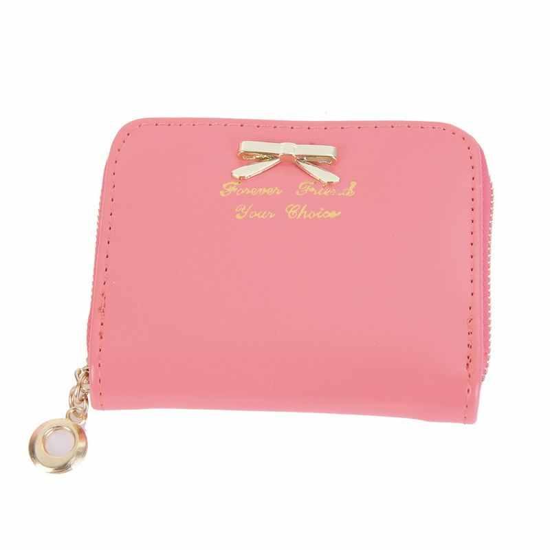 Çanta yay cüzdan kadın güzel küçük cüzdan sahipleri kadınlar para çantası Kawaii çanta bayan taşınabilir küçük kızlar için ilmek