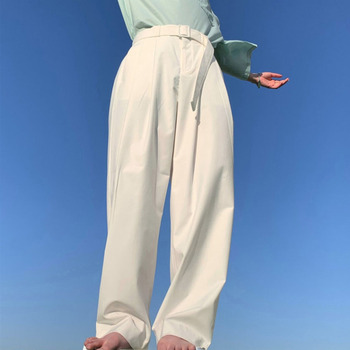 Korean Style Straight Casual Pants Men's Fashion Solid Color Business Dress Pants Men Streetwear Loose Suit Pants Men Trousers korean style straight pants men s fashion solid color business casual dress pants men streetwear wild loose suit trousers mens