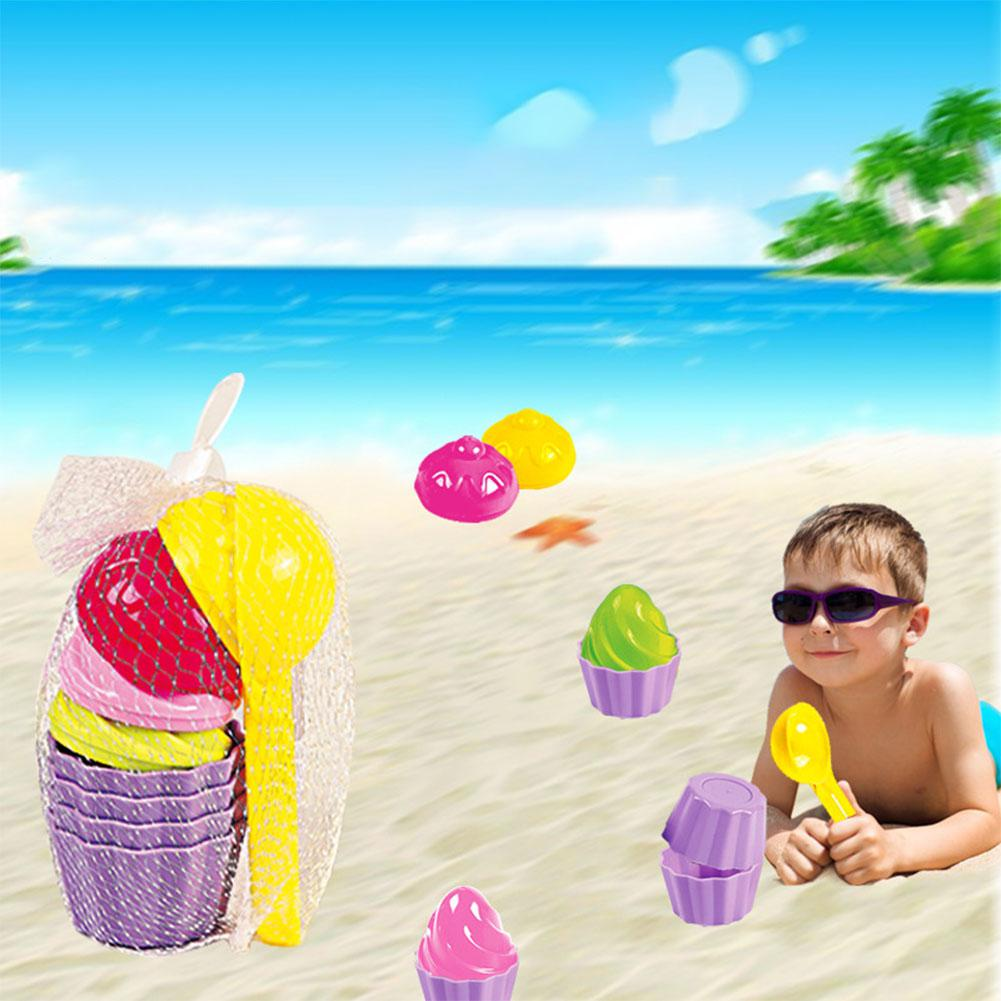Kuulee 9pcs/Set Kids Baby Beach Sand Toys Ice Cream Mould Spoon Play Sand And Snow Toy