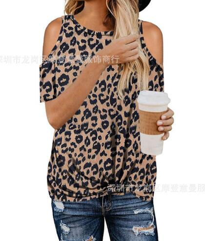 Camouflage T Shirt Hollow Out Tees 2020 Summer Short Sleeve Women Tie Loose T-shirt New Design Summer Tops Tee Casual Female T