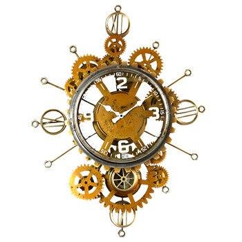 Hierro Pared De salón Reloj Vintage creativo De Pared silencioso colgante Reloj...