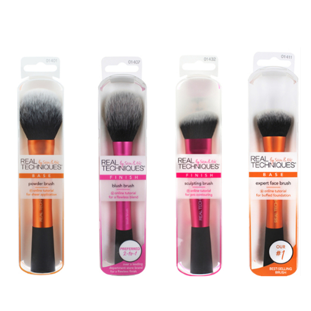 NEW Make up Brushs Makeup sponge Maquillage Real Technique Makeup Brushs Powder Loose Box Belt foundation brush