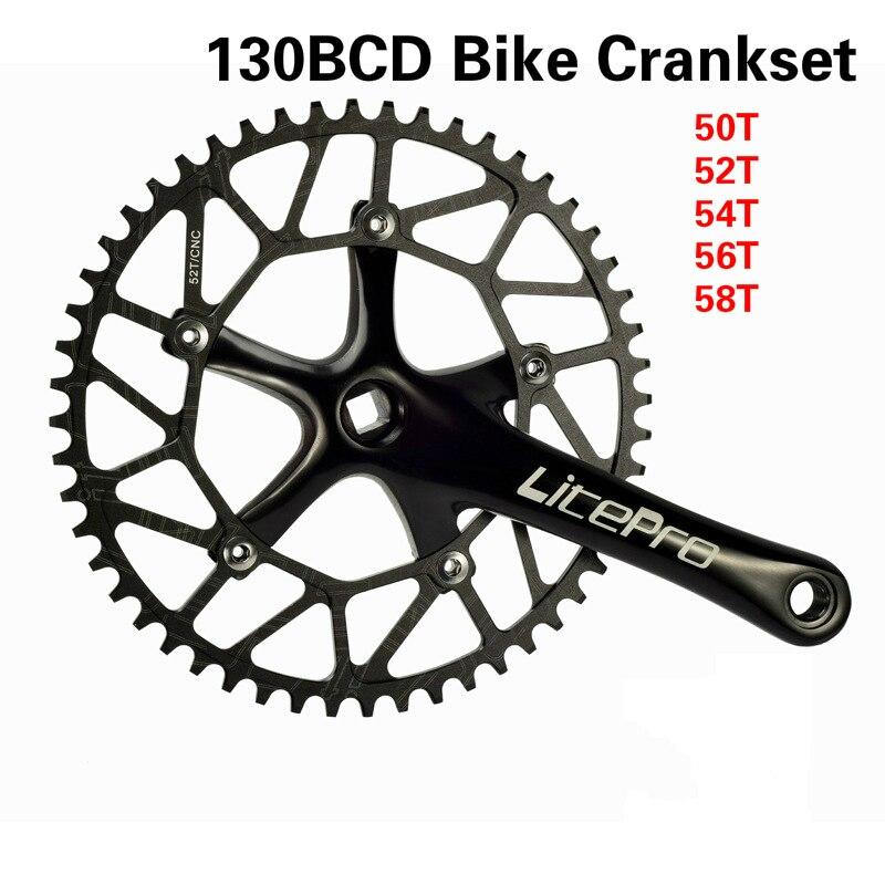 Road Folding Bike Crank arm 170mm Crankset Narrow Wide Chainring 50//52//54//56//58T