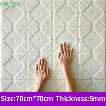 waterproof self-adhesive 3D foam wall sticker TV background wall decoration home bedroom waterproof wallpaper 3d wall sticker self adhesive for bedroom