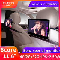 8 Core HD Android 9.0 Car Headrest Monitor WIFI Car DVD Video Player Bluetooth Rear Seat Entertainment System For Mercedes Benz