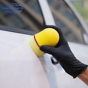 Image 5 - ולדימיר שעווה המוליך ספוג Pad רכב רך מיקרופייבר מגבת המפרט Pad עבור שעווה אוטומטי טיפול פירוט שטיפת רכב נקי ניקוי