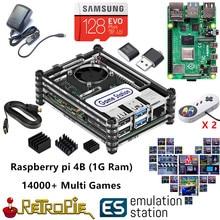 Nova estação de emulação es 128g raspberry pi 4b 14000 + jogos em 1 retropie jogo arcade console clássico retro jogos ps nes