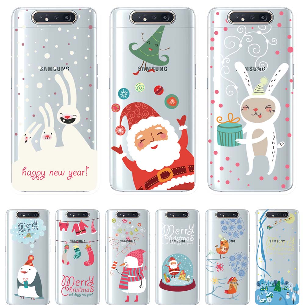 Newly Christmas Light oil clear TPU Phone Case For <font><b>Samsung</b></font> Galaxy A10 A30 A40 <font><b>A50</b></font> 70 A80 Cover Fundas Coque Capinhas <font><b>Hoesjes</b></font> image