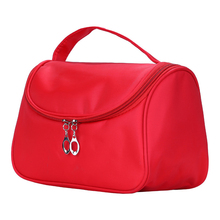 2019 Travel Cosmetic Bag Nylon Makeup Case Women Zipper Hand Holding Make Up Handbag Organizer Storage Pouch Toiletry Wash Bags leaves hanging cosmetic toiletry bags travel organizer beautician necessary functional makeup wash pouch accessories supplies