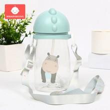купить 500ml Cartoon Baby Straw  Bottle Cup Leak Proof Infant Nursing Feeding Sippy Bottle Kids Baby Feeding Drinking Cup with Handle дешево