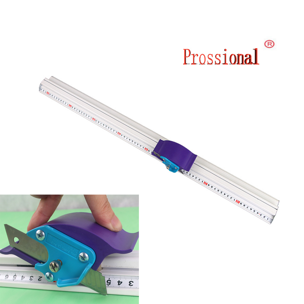 70cm Kt board Pvc board Manual Cutting ruler aluminum alloy anti-skid Positioning cutting ruler cutting track Woodworking tool