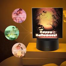 Декор на Хэллоуин 3d Тыква ведьма акриловый светодиодный ночсветильник