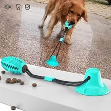 Brinquedos do cão silicone ventosa para cães de estimação reboco interativo bola brinquedos para animal de estimação mastigar mordida dente limpeza escova de dentes cães comida brinquedos