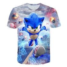 2021 Supersonic Kids T-Shirt 3D Print Clothes Boys Girls Sonic Tee Children Summer Tops Child Baby Fashion Short Sleeve Tee