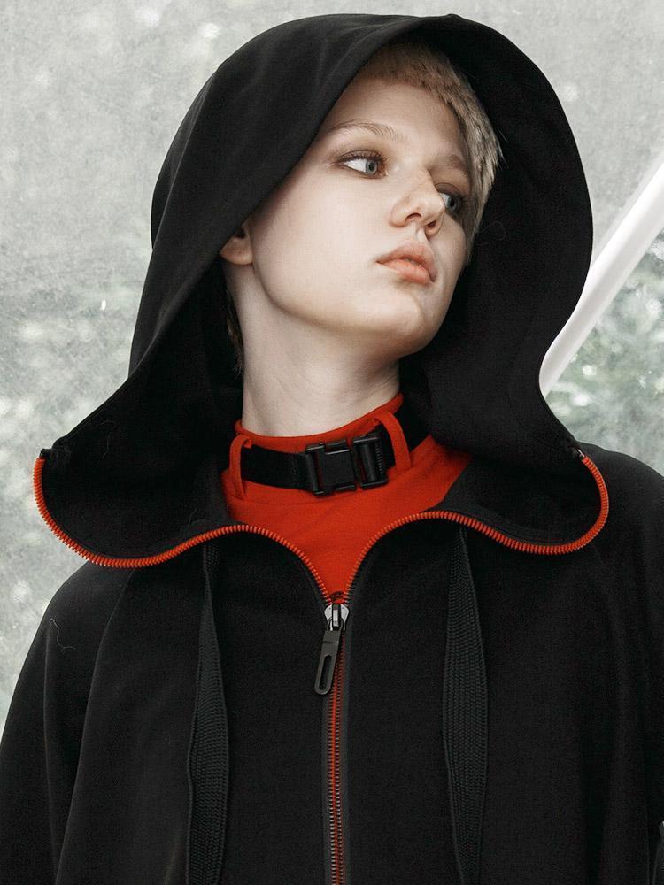 Punk Rave Vrouwen Gothic Rits Hooded Heks Korte Jassen PY 438XD - 5