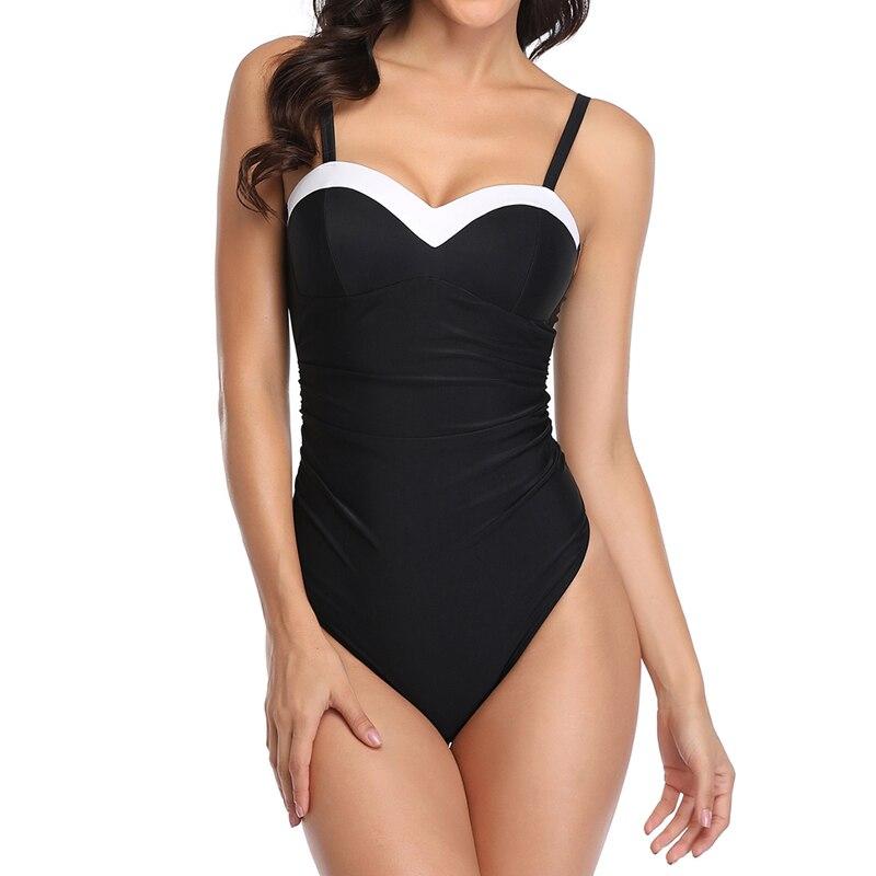 Oeak Swimsuit Women Swimwear One Piece Bodysuit Push Up Monokini Halter Backless Bathing Suits Swim Suit Wear Female Beachwear