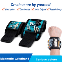 1pcs Magnetic Bracelet Wristband Wrist Belt Electrician Kit Repair Tool Bag Hand Tools Screwdriver Holder Organizer Storage