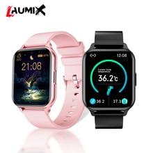 Smart Watch Body temperature Heart Rate Monitor Blood Pressure Alloy Smartwatch music control DIY Dial wallpaper IP68 waterproof