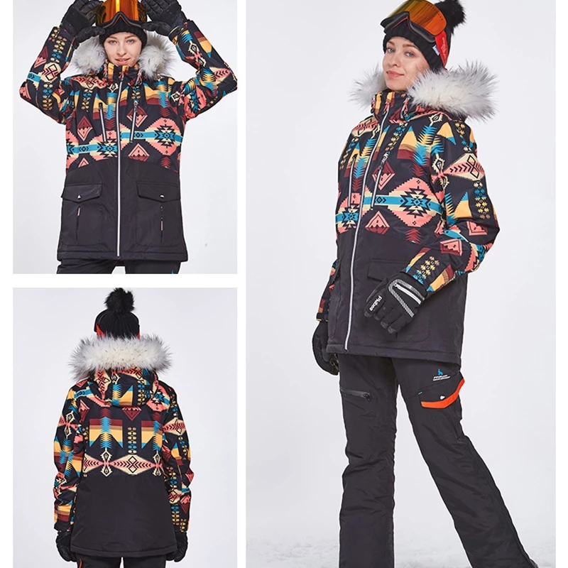 2021 Winter Ski Suit Outdoor Snowboard Jacket Windproof  Waterproof Ski Set Thickened Warm Overalls Winter Clothing
