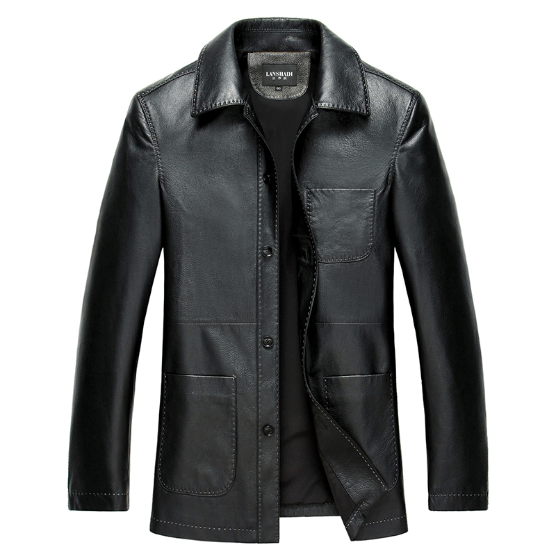 Geniune Leather Jacket Pure Goat Leather Jacket For Men Spring Autumn Plus Size 4XL Jaqueta De Couro LSD159106 MF125