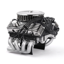 Rc 자동차 f82 v8 시뮬레이션 엔진 모터 냉각 팬 1/10 rc 크롤러 용 라디에이터 traxxas trx4 axial scx10 90046 redcat gen8