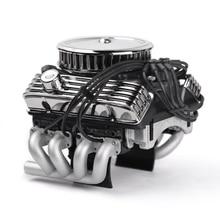 Xe Đua F82 V8 Mô Phỏng Động Cơ Động Cơ Quạt Làm Mát Tản Nhiệt Cho 1/10 RC Xe Bánh Xích Traxxas TRX4 Trục SCX10 90046 Redcat GEN8