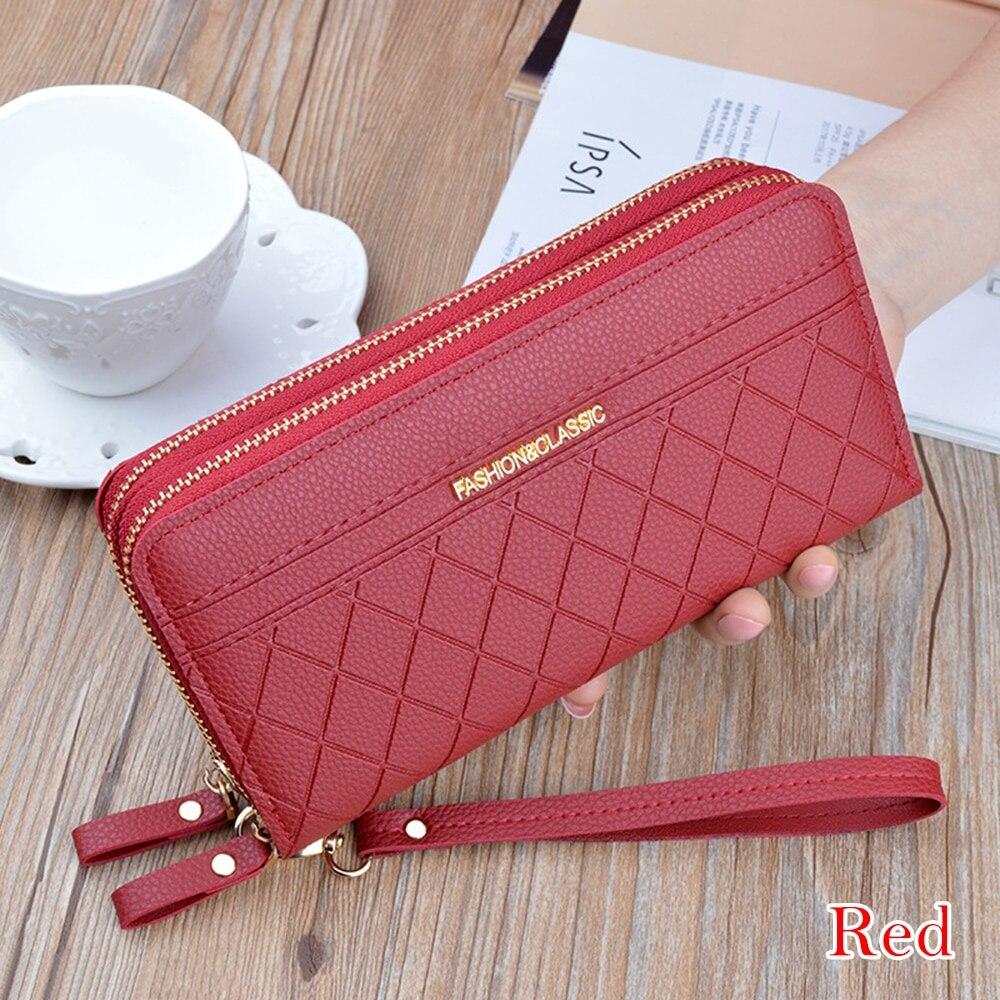 Moda feminina carteira bolsas borla moeda bolsa titular do cartão de luxo carteiras feminina couro do plutônio embreagem dinheiro saco carteiras