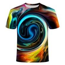 Мужская летняя футболка с 3D принтом, Забавный товар, короткий рукав, Пейсли, Мужская компрессионная футболка vertigo, футболка азиатского размера