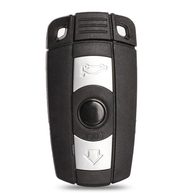 Jinyuqin Shell Remoto Chave Para A BMW E61 E90 E82 E70 E71 E87 E88 E89 X5 X6 Para 1 3 5 6 Series Substituir 3 Botão Caso Chave Do Carro Inteligente