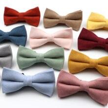 Novo macarons cor sólida masculino gravata borboleta super macio camurça clássico camisas bowtie bowknot adulto criança cravats para casamento