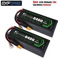 GTFDR RC batería Lipo 4S 3S 2S 14,8 V 11,1 V 7,4 V 8400mah 6750mah 6500mah 6200mah 5200mah 110C 100C 50C batería para coche barco camión