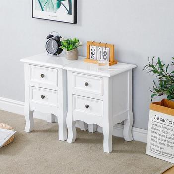 2Pcs/Set of Wood Nightstands Dressers   1