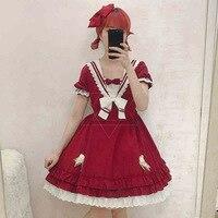 Summer Female Cute Daily Lolita Dress Short Sleeved Dress Lolita Japanese Soft Sister Princess Dress