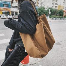 Saco de compras de lona grande feminina reutilizável soild extra grande sacola de compras eco ambiental shopper sacos de ombro para a jovem