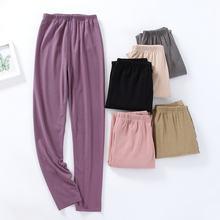 Fdfklak бархатная теплая зимняя одежда для сна брюки повседневная