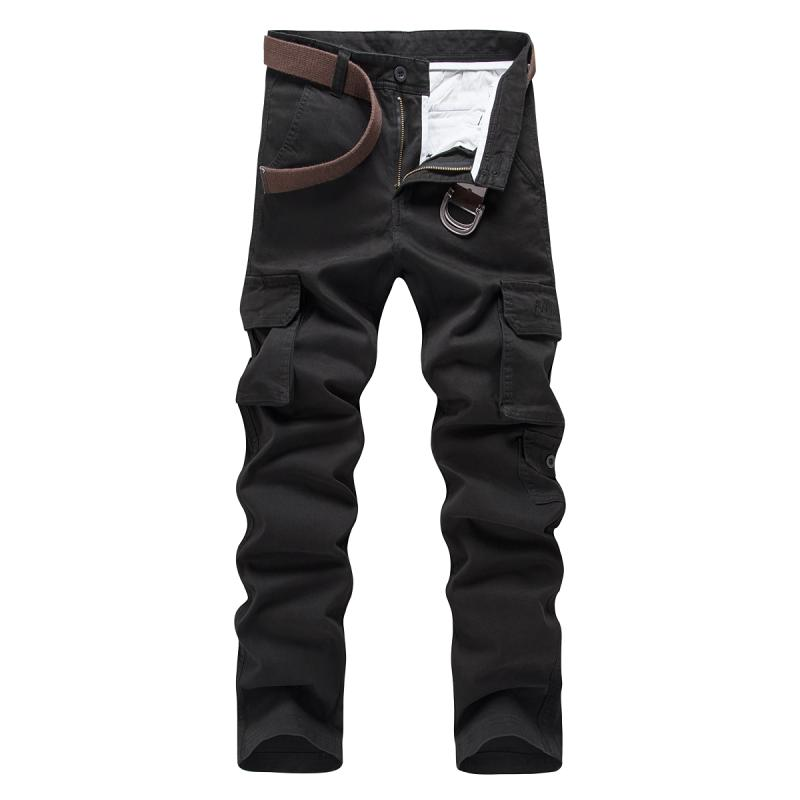 2020 Spring And Autumn Overalls Men's Pants Outdoor Slim Multi-bag Cotton Sports Long Pants 724
