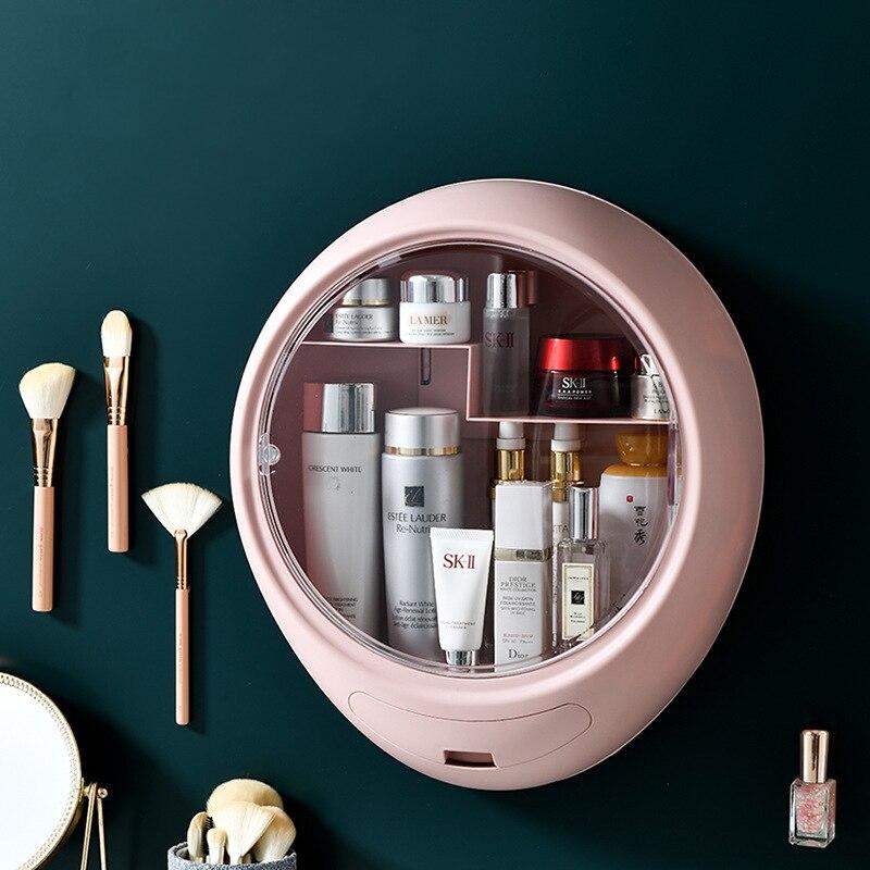 Wall mounted cosméticos caixa de armazenamento compõem organizador gaveta jóias organizador do banheiro maquiagem armazenamento