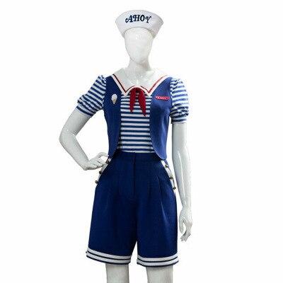 Étranger choses 3 Cosplay Robin Cosplay Costume Scoops Ahoy Robin uniforme marin Costume tenue Halloween carnaval fête cadeau