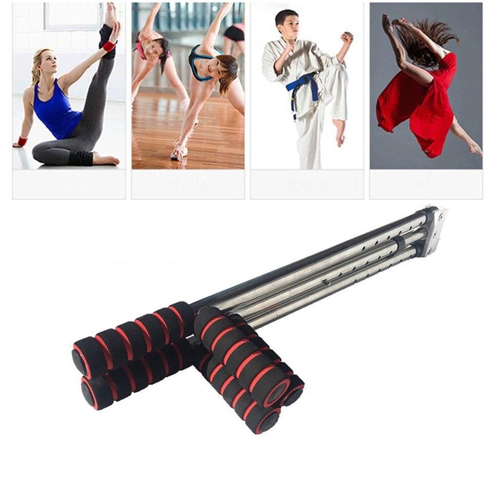 FairytaleMM Iron Leg Stretcher 3 Bar Legs Extension Split Machine Flexibility Training Tool Open Lapel Artefact Home Fitness Equipment Silver