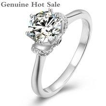 Мужское и женское кольцо из серебра 100% пробы с муассанитом