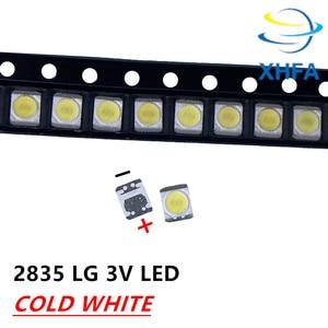 200 шт. Оригинальный светодиодный ЖК-телевизор для LG, задний светильник, бусины для объектива 1 Вт 3 в 3528 2835, холодный белый светильник