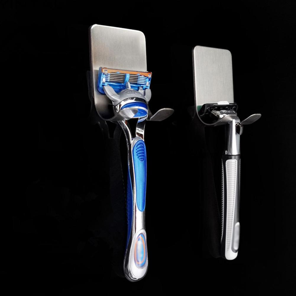 Wall Adhesive Hanger Stainless Steel Razor Holder Shelf Shaving Shaver Rack  Home Decoration Accessories 2019