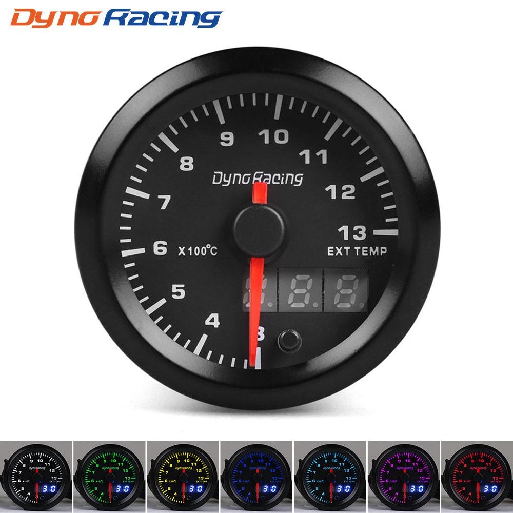 Dynoracing-2-52mm-Dual-Display-Exhaust-Gas-Temp-Gauge-7-colors-Led-300-1300-Celsius-EGT