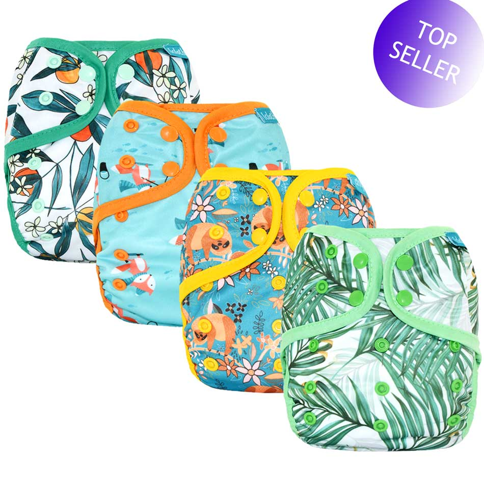 One Size Baby Cloth Diaper Cover With Or Without Bamboo Insert,waterproof Breathable S M& L Adjustable,fit 5-15kg Baby