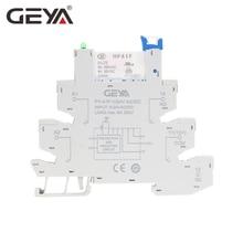Free Shipping GEYA PLC Interface Hongfa Relay Screw Socket 6A Relay 24VDC/AC Relay Socket 6.2mm thickness цена