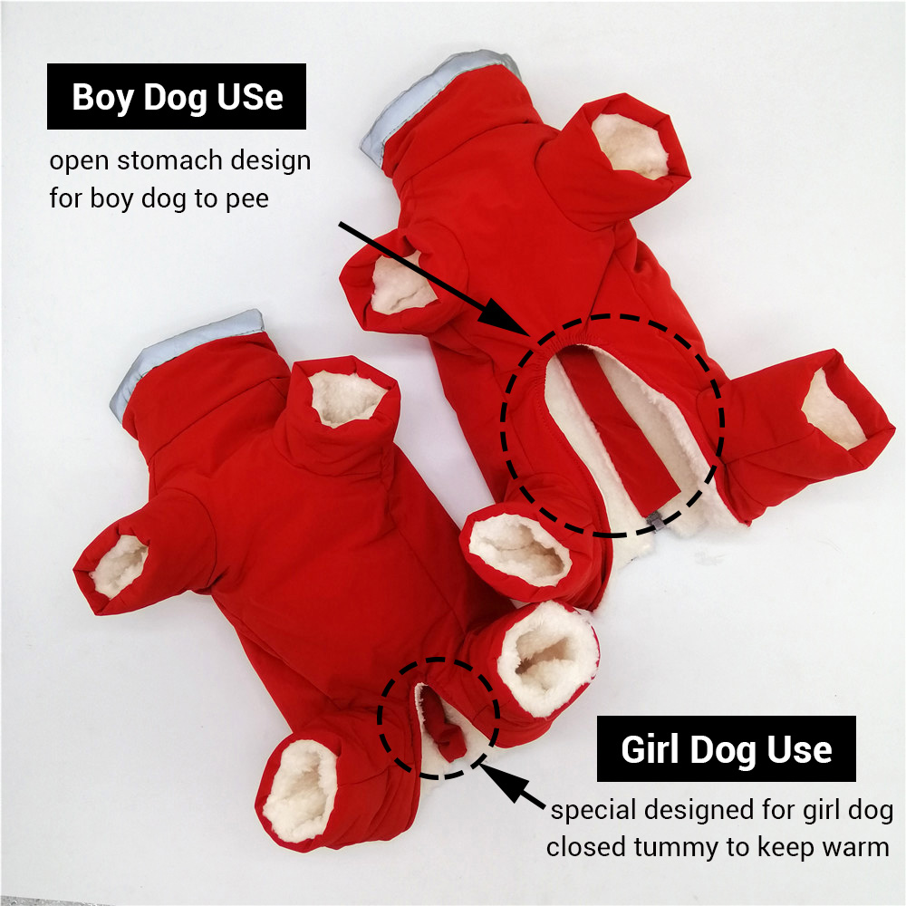 Waterproof and Reflective Dog Jacket Made with Polyester and Soft Fleece Material for Small Dogs 1